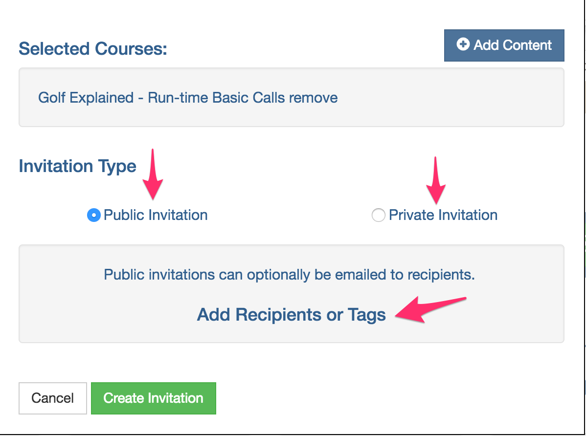 Getting Started Invitations Rustici Software Knowledge Base